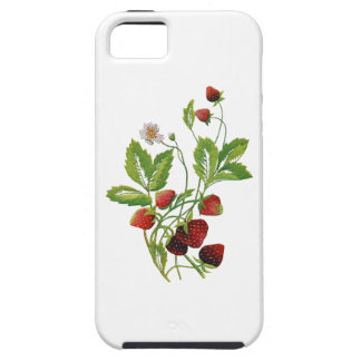 Spring Fresh Strawberries Embroidery iPhone 5 Case