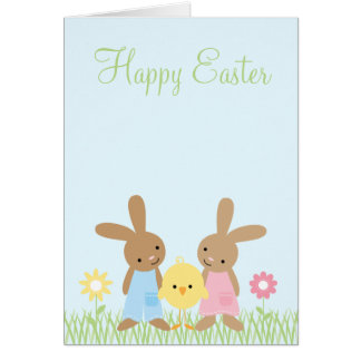 Spring Friends Easter Greeting Cards