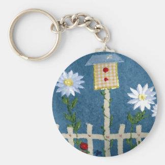 Spring Garden Basic Round Button Keychain