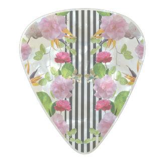 Spring Garden by Artist Zala02Creations Pearl Celluloid Guitar Pick
