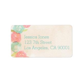 Spring Garden Floral Bridal Shower Address Labels