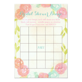 "Spring Garden Floral Bridal Shower Bingo Cards 5"" X 7"" Invitation Card"