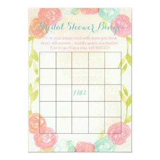 "Spring Garden Floral Bridal Shower Bingo Cards 5"" X 7"" Invitation Card"