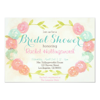 Spring Garden Floral Bridal Shower Invitation