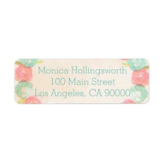 Spring Garden Floral Return Address Labels