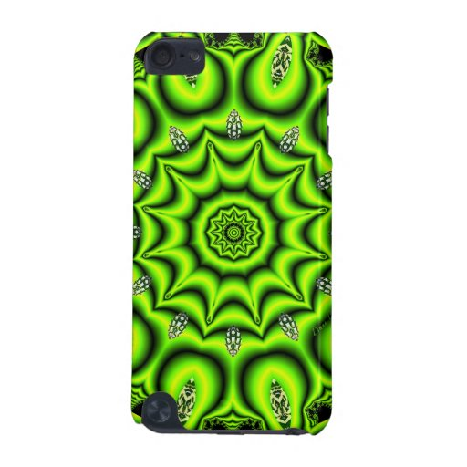 Spring Garden Mandala, Bright Abstract Green iPod Touch (5th Generation) Cover