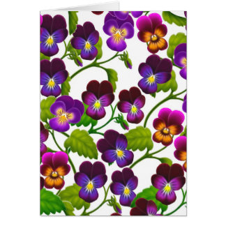 Spring Garden Pansies Card