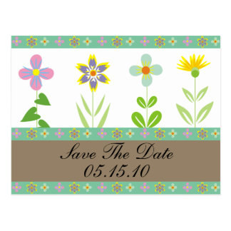 Spring Garden Save The Date Postcards
