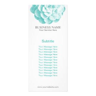 Spring Garden Succulent Elegant Floral Rack Card
