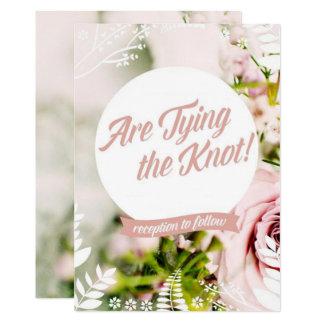 Spring Garden Wedding Card