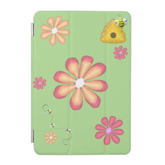 Spring Garden with Bees and Flowers iPad Mini Cover