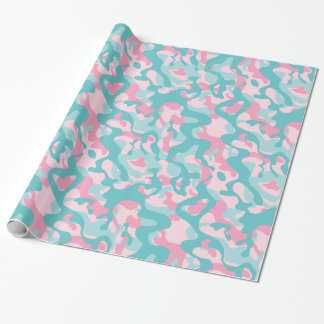 Spring Gentle Camouflage Pattern Wrapping Paper