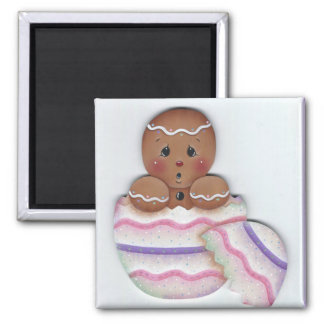 Spring Gingerbread Baby Just Hatched Magnet