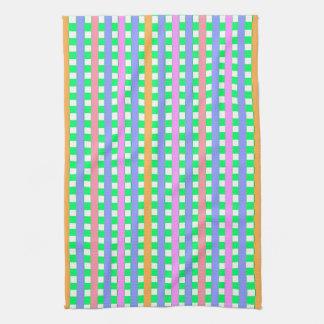 Spring-Gingham-Orange-Lavender-Multi-Colors Kitchen Towel