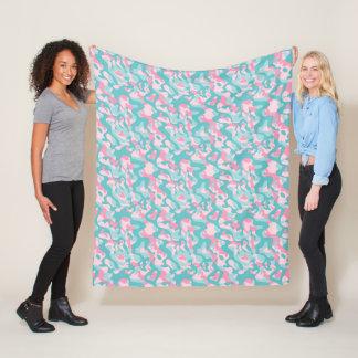 Spring Girly Camouflage Pattern Fleece Blanket