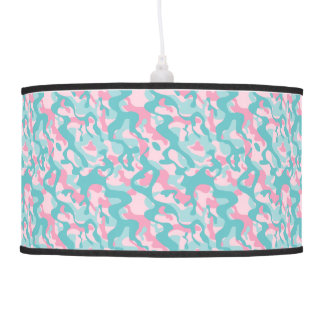 Spring Girly Camouflage Pattern Pendant Lamp