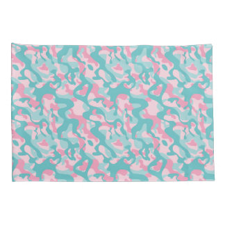 Spring Girly Camouflage Pattern Pillowcase