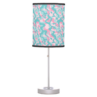 Spring Girly Camouflage Pattern Table Lamp