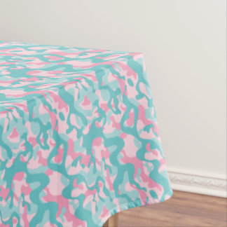 Spring Girly Camouflage Pattern Tablecloth