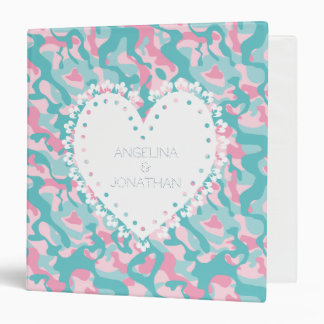 Spring Girly Camouflage Personalize Binder