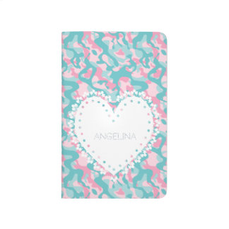 Spring Girly Camouflage Personalize Journal