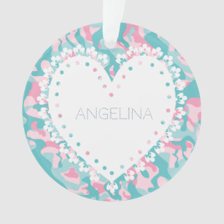 Spring Girly Camouflage Personalize Ornament