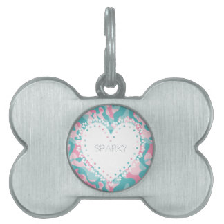 Spring Girly Camouflage Personalize Pet Tag
