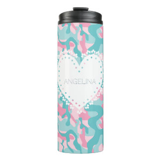 Spring Girly Camouflage Personalize Thermal Tumbler