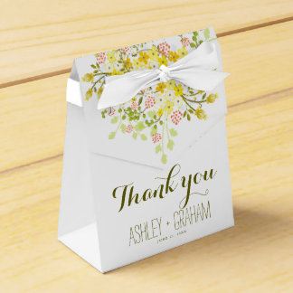 Spring Glory Personalized Floral Wedding Favor Box