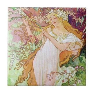 Spring Goddess Tile