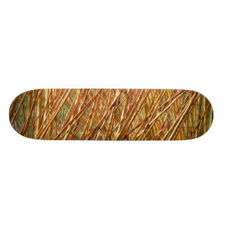 Spring Gold Branches Natural Pattern Skate Board