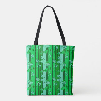 Spring Green All-over Print Tote Bag