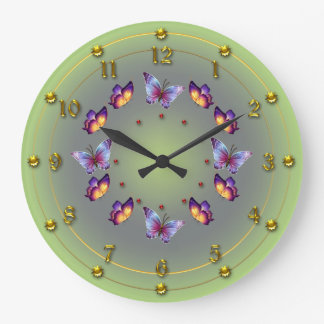 Spring Green Butterfly ring Clocks