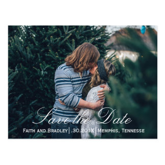 Spring Green & Chocolate SAVE THE DATE Photo Postcard