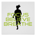 Spring Green Focus Believe Breathe Print