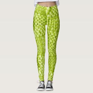 Spring Green Knit Leggings