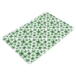 Spring-Green Lucky Shamrock Clover Floor Mat