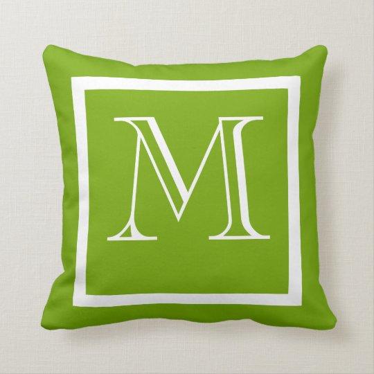 Spring Green Positive Negative Monogrammed Pillow