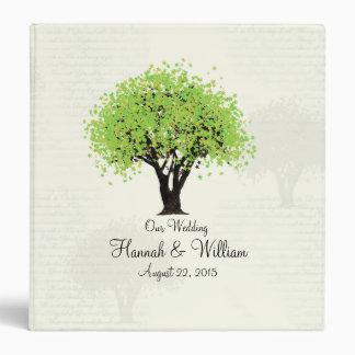 Spring Green Tree Dancing Blooms Vinyl Binders