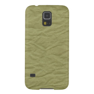 Spring Green Wrinkled Paper Texture Case For Galaxy S5