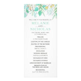 Spring Greenery Bontanica wedding program