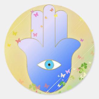 Spring Hand of Fatima Classic Round Sticker
