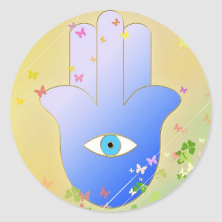 Spring Hand of Fatima Round Sticker