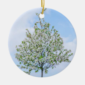 Spring - Happy Easter Round Ceramic Ornament
