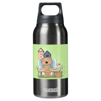 Spring Has Sprung, Adorable Butterfly Bear Insulated Water Bottle