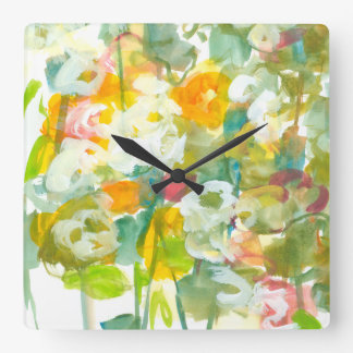 Spring has Sprung II Square Wall Clock