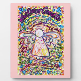 Spring Hearts Cancer Angel Painting Poem Plaque