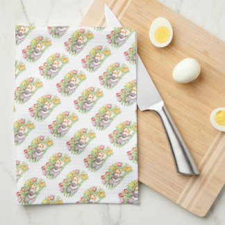 Spring Holiday Easter Bunny Kitchen Towels