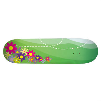 Spring illustration skate deck