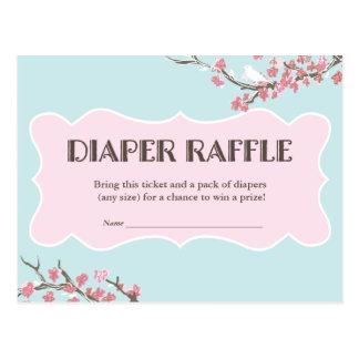 Spring in Bloom Diaper Raffle Ticket Card